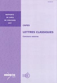 Pascal Charvet - CAPES Lettres classiques - Concours externe.