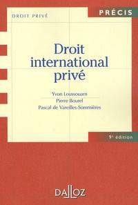 Pascal de Vareilles-Sommières - Droit international privé - Edition 2007.
