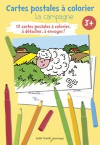 Pascal Debacque - La campagne - Cartes postales à colorier.