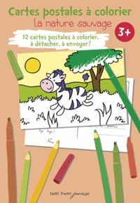 Pascal Debacque - La nature sauvage - Cartes postales à colorier.