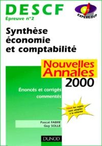 DESCF épreuve n° 2 Synthèse économie et comptabilité. Annales corrigées et commentées, édition 2000.pdf