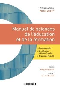 Pascal Guibert - Manuel de sciences de l'éducation et de la formation - 2021.