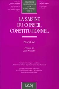 La saisine du Conseil constitutionnel - Pascal Jan |