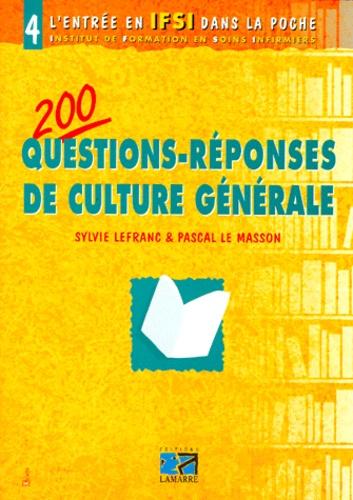 100 Questions Reponses Culture Générale