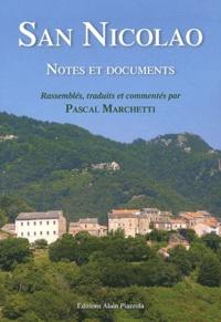 Pascal Marchetti - San Nicolao - notes et documents.
