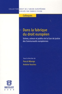 Pascal Mbongo et Antoine Vauchez - Dans la fabrique du droit européen - Scènes, acteurs et publics de la Cour de justice des Communautés européennes.