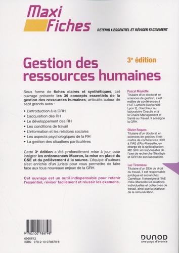 Gestion des ressources humaines 3e édition