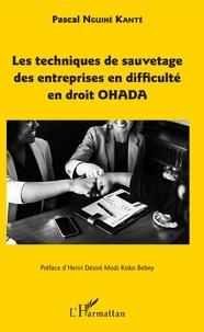 Les techniques de sauvetage des entreprises en difficulté en droit OHADA.pdf