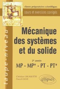 MECANIQUE DES SYSTEMES ET DU SOLIDE 2EME ANNEE MP, MP*, PT, PT*. Cours et exercices corrigés.pdf