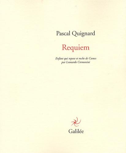 Pascal Quignard - Requiem - Enfant qui repose et roche de Cumes par Leonardo Cremonini.