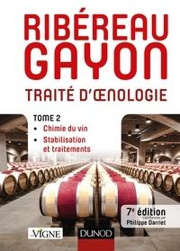Pascal Ribéreau-Gayon et Denis Dubourdieu - Traité d'oenologie - Tome 2, Chimie du vin, stabilisation et traitements.