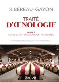 Pascal Ribéreau-Gayon et Yves Glories - Traité d'oenologie - Tome 2, Chimie du vin, stabilisation et traitements.
