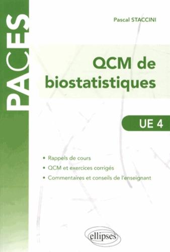 Pascal Staccini - QCM de biostatistiques UE 4.