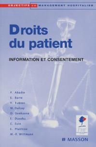 Pascale Abadie et Yann Bubien - Droits du patient - Information et consentement.