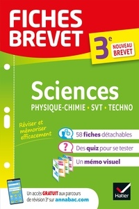 Pascale Bihouée et Sandrine Aussourd - Fiches brevet Sciences 3e : Physique-Chimie, SVT, Technologie Brevet 2022 - fiches de révision & quiz.