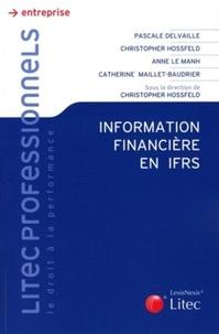 Pascale Delvaille - Information financière en IFRS.