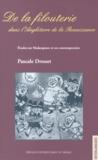 Pascale Drouet - De la filouterie dans l'Angleterre de la Renaissance - Etudes sur Shakespeare et ses contemporains.