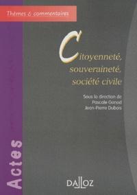 Pascale Gonod et Jean-Pierre Dubois - Citoyenneté, souveraineté, société civile.