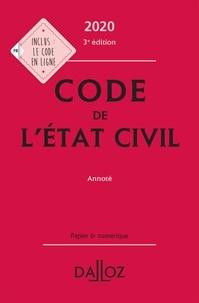 Pascale Guiomard - Code de l'état civil annoté.