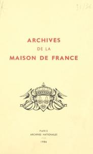 Pascale Maillart et Georges West - Archives de la Maison de France, branche d'Orléans (4) - Catalogue des cartes et plans.