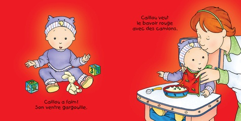 Bébé Caillou  A table !