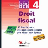 Deedr.fr DCG 4 Droit fiscal - 45 fiches de cours avec applications corrigées pour réussir votre épreuve Image