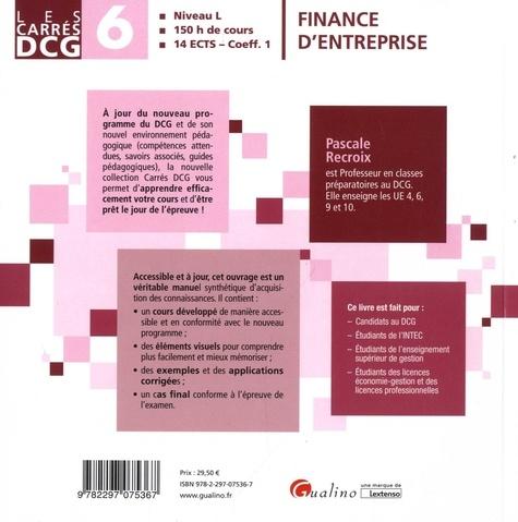 Finance d'entreprise DCG 6 9e édition