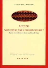 Pascale Seys - Access - Quels publics pour la musique classique ?.