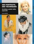 Patrice Baffou - Des portraits, des techniques - Acrylique, pastel, huile, aquarelle.