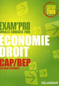 Patrice Barthélémi - Economie Droit CAP/BEP secteur tertiaire - Annales corrigées.