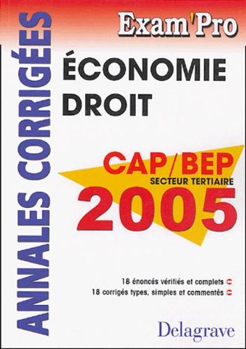 Patrice Barthélémi - Economie Droit CAP, BEP tertiaires - Annales corrigés.