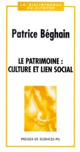 Patrice Béghain - Le patrimoine - Culture et lien social.