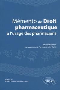Mémento de droit pharmaceutique à lusage des pharmaciens.pdf