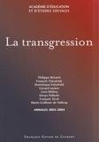 Patrice Brizard et Dominique Folscheid - La transgression.