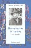Patrice Delbourg - Ecchymoses et caetera - Poèmes 1974-2004.