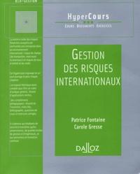Patrice Fontaine et Carole Gresse - Gestion des risques internationaux.