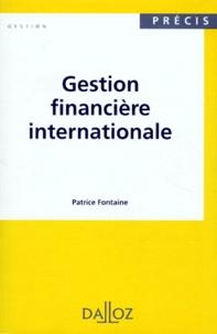 Patrice Fontaine - Gestion financière internationale.
