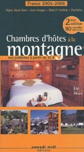 Patrice Lejeune - Chambres d'hôtes à la montagne - France 2005-2006.
