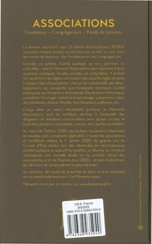 Associations. Fondations - Congrégations - Fonds de dotation  Edition 2020