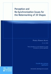 Patrice Rondao Alface - Perception and Re-Synchronization Issues for the Watermarking of 3D Shapes.