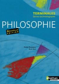 Patrice Rosenberg et Alain Sage - Philosophie Tle séries technologiques.