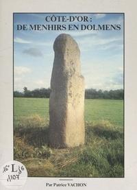 Patrice Vachon et  Collectif - Côte d'Or : de menhirs en dolmens.