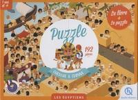 Patricia Crété et Bruno Wennagel - Les égyptiens - Le livre + Le puzzle Cherche & trouve de 192 pièces.