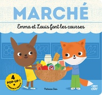 Patricia Geis - Marché - Emma et Louis font les courses.
