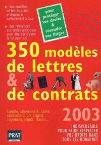 Accentsonline.fr 350 modèles de lettres et de contrats. Edition 2003 Image