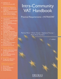 Patricia More et Olivier Straub - Intra-Community VAT Handbook - Practical Requirements, INTRASTAT.