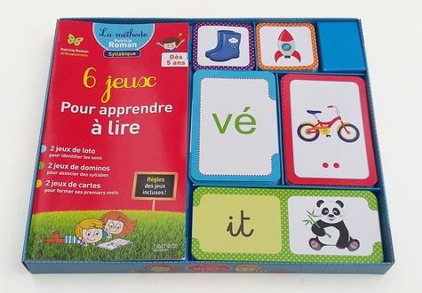 Patricia Roman et Mélissa Chalot - 6 jeux pour apprendre à lire - A partir de 5 ans, avec 6 jeux.