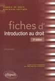 Patricia Vannier - Fiches d'introduction au droit.