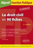 Patricia Vannier - Le droit civil en 90 fiches.