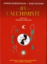 """Patrick Burensteinas et Marc Kucharz - Coffret Le jeu de l'alchimiste - Contient : 1 livre, 49 cartes en couleurs, 56 cartes """"cadeau"""", 1 dé à jouer."""